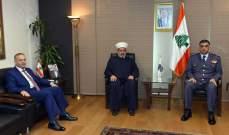 عثمان استقبل مفتي بعلبك الهرمل وعرض معه الاوضاع