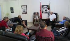 حمدان التقى وفدا من اللجنة المركزية لمقاطعة البضائع الاميركية