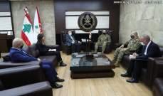 قائد الجيش بحث مع كوبيتش بالأوضاع العامة والتقى لوريمير ورامبلينغ