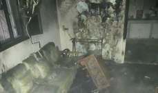 اخماد حريق داخل شقة سكنية واخلاء مواطنة في بياقوت