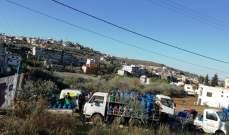 موزعو الغاز ينفذون اعتصامًا احتجاجيًا أمام شركة الغاز في القصيبة