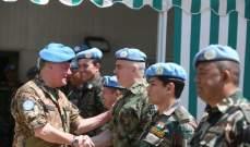 القائد الجديد لليونيفيل زار قيادة القطاع الشرقي