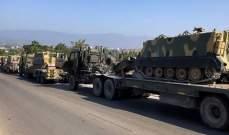 المرصد السوري: 20 آلية تركية محملة بمعدات عسكرية ولوجستية دخلت منطقة خفض التصعيد بإدلب