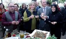 افتتاح معرض المونة والأطباق التقليدية من صنع سيدات من 13 تعاونية ريفية