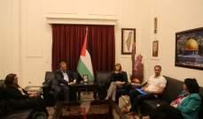 دبور استقبل وفداً من اليونيسيف وناقش المصاعب التي يواجهها اللاجئ الفلسطيني في لبنان