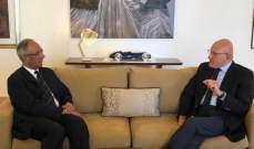 سفير باكستان زار سلام في زيارة وداعية