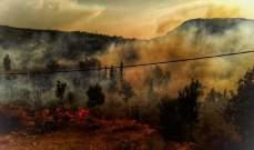 الدفاع المدني اخمد حريقين في الضنية