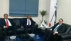 شقير عرض مع سفير لبنان في المغرب زيادة التعاون الاقتصادي