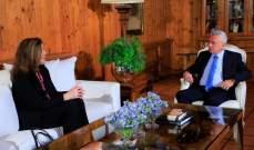 فرنجية استقبل السفيرة الأميركية في لبنان وبحث معها الأوضاع العامة