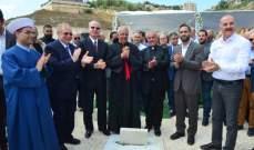 العمار يرعى وضع الحجر الأساس لكنيسة سيدة الانتقال في عين الأسد