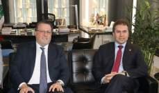 شقير التقى وزير خارجية الباراغواي: لبنان يزخر بالكثير من الفرص الاستثمارية الواعدة