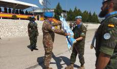 تسلم وتسليم في الكتيبة الاسبانية العاملة في إطار اليونيفيل