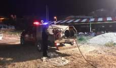 إخماد حريقين في مخيم للنازحين في العبدة ومستوعب في ببنين