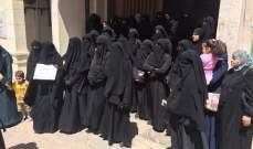 اعتصام لأهالي الموقوفين الاسلاميين في باحة مسجد المنصوري الكبير