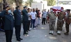 تشييع العريف المجند الشهيد أحمد صقر في بلدة قشلق - عكار
