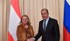 وزيرة الخارجية النمساوية دعت إلى الحفاظ على علاقات قوية مع روسيا
