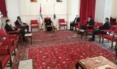 """العبسي التقى وفدا من تكتل """"لبنان القوي"""" متضامنا معه ومؤيدا لمواقفه"""