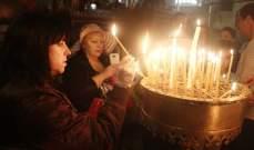 مسيحيو غزة يقيمون قداساً احتفالاً بأحد الشعانين
