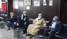 سعد استقبل القوى الاسلامية بعين الحلوة وبحث بالمستجدات اللبنانية والفلسطينية