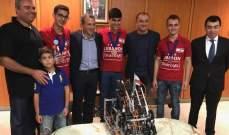 باسيل مستقبلا فريق الطلاب الفائزين: الابداع اللبناني موجود بكل المجالات
