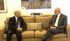 سلام التقى سفير ايطاليا وعرض معه آخر المستجدات