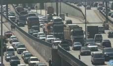التحكم المروري: 3 جرحى بحادث تصادم بين مركبتين على أوتوستراد شكا