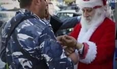 قوى الأمن الداخلي توقف بابا نويل في ضبية؟!
