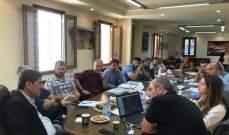 اسحق ترأس اجتماع عمل في بلدية بشري لمتابعة الاشغال في القضاء