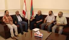 سعد استقبل وفدا من حزب التحرير