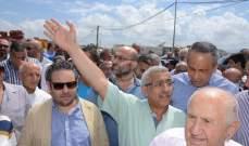 متظاهرون في ساحة ايليا بصيدا اعترضوا على وجود النائب سعد