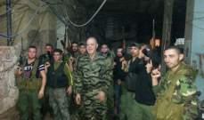 النشرة: القوة الامنية الفلسطينية تسير دوريات بمخيم برج البراجنة