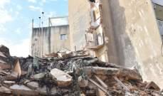 سقوط مبنى خال من السكان في منطقة المدور في الأشرفية