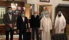 جنبلاط التقى سفراء الكويت والسعودية والإمارات: اكدوا حرصهم لاستقرار لبنان وسيادته