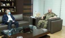 قائد الجيش يبحث مع رحمة وقائد اليونيفل الأوضاع العامة في البلاد