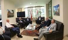 اللقاء التشاوري اجتمع في دارة النائب مراد لتنسيق الموقف في الإجتماع الاقتصادي
