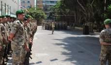 وفود من كبار ضباط قيادة الجيش قدموا التهاني للعسكريين لمناسبة عيد الجيش