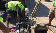 النشرة: بلدية صيدا بدأت بتنظيف مجاري الصرف الصحي استعدادا لموسم الشتاء