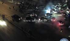محتجون يقطعون جسر الرينغ بالاتجاهين تضامنا مع محتجي طرابلس