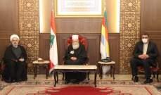 الشيخ حسن التقى وفدا ايرانيا: لتحصين الحقوق ونبذ سياسات التفرقة