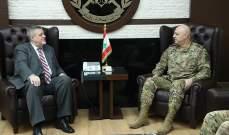 قائد الجيش التقى كوبتش وجرى التداول في أوضاع لبنان والمنطقة
