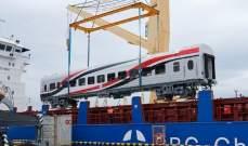 وصول 10 عربات قطارات روسية جديدة إلى ميناء الإسكندرية في مصر