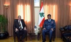اللواء عثمان التقى سركيس عرض معه للأوضاع العامة