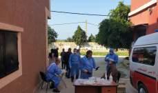 النشرة: فريق مستشفى الهمشري اجرى فحوصات لمخالطين في تجمع القاسمية