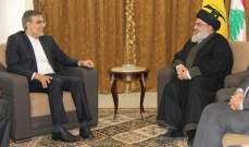 نصرالله التقى أنصاري واستعرضا الأوضاع السياسية والعامة
