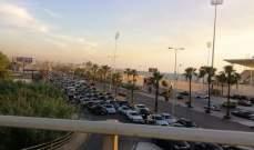 زحمة سير خانقة على اوتوستراد صيدا بإتجاه بيروت