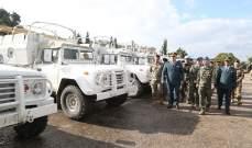 إقامة حفل تسلم هبة مقدمة من سلطات كوريا للجيش اللبناني باللواء اللوجستي- كفرشيما