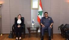 اللواء عثمان عرض للأوضاع العامة في البلاد مع النائب رولا الطبش