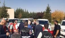 امن الدولة أشرفت مع وفد الباني على عملية تسلم طفل من الهلال الاحمر السوري