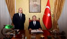وزير الدفاع التركي: نتعاون مع إيطاليا لحل قضايا إقليمية وعالمية