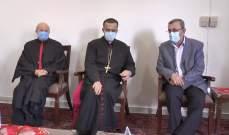 وفد من حزب الله يقدم التهنئة بالأعياد المجيدة في مطرانية الروم الكاثوليك ومطرانية صور المارونية